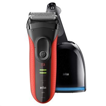 BRAUN Series 3 3050 Clean&Charge Red holící strojek