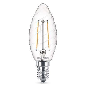 PHILIPS LED Filament žárovka designová ST35 230V 2W E14 noDIM Čirá 250lm 2700K Sklo A++ 15000h (Blistr 1ks)