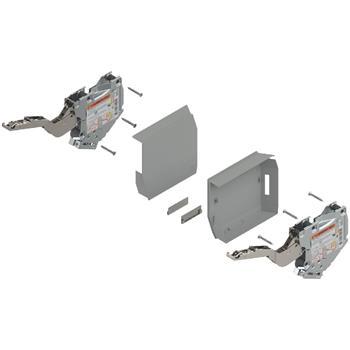 Blum 20K2B00T Aventos HK-S slabý TIP-ON + krytky šedé bez čelního kování