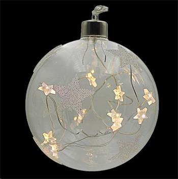 Marimex Decor Crystal Závěsná koule s hvězdami