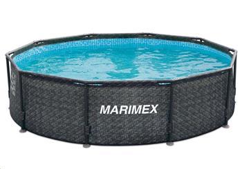 Marimex Bazén Florida 3,66x1,22 m bez filtrace - motiv RATAN