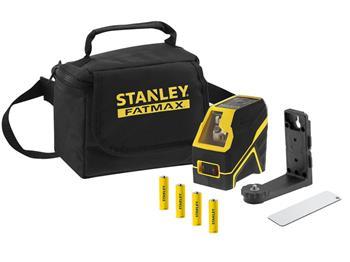 Stanley FatMax křížový laser, alkalické baterie, červený paprsek