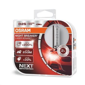 OSRAM xenonová výbojka D2S XENARC® NIGHT BREAKER® LASER 12/24V 35W PK32d-2 4300K živ.3000h (Duo-Box)