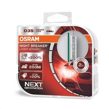 OSRAM xenonová výbojka D3S XENARC® NIGHT BREAKER® LASER 12/24V 35W PK32d-2 4300K živ.3000h (Duo-Box)