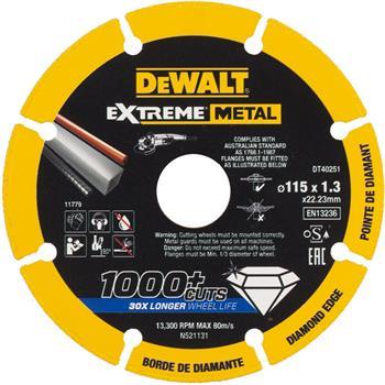 DeWALT DT40251 diamantový kotouč EXTREME METAL, 115 mm