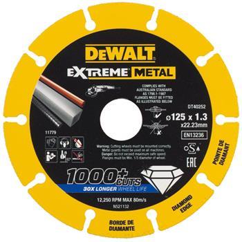 DeWALT DT40252 diamantový kotouč EXTREME METAL, 125 mm