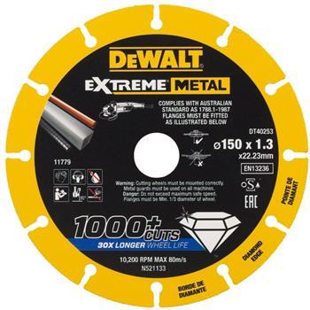 DeWALT DT40253 diamantový kotouč EXTREME METAL, 150 mm