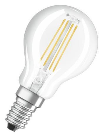OSRAM LED Filament VALUE ClasP 230V 4W 827 E14 noDIM A++ Sklo čiré 470lm 2700K 10000h (krabička 1ks)