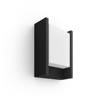PHILIPS Fuzo Venkovní nástěnné svítidlo, Hue White, tvar U, integr.LED, Antracit