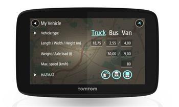 TomTom GO PROFESSIONAL 6250 - LIFETIME mapy s doživotní Traffic službou a rychlostními radary, vestavěná SIM