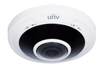 Uniview IPC815SR-DVPF14, 5Mpix, až 25 sn/s,H.265,obj.1,8mm (180°),PoE,DI/DO,audio,IR 10m,WDR, MicroSDXC, antivandal,IP66