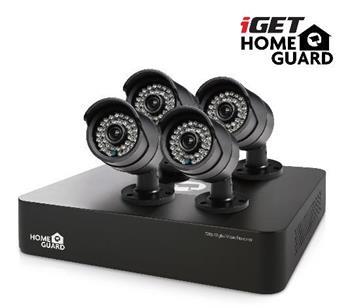 iGET HOMEGUARD HGDVK46704 Kamerový systém, 4-kanálový rekordér HD DVR + 4x HD kamera 720p