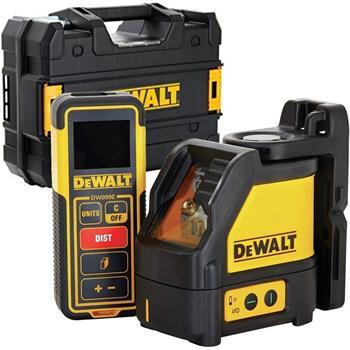 DeWALT DW0889CG set křížového laseru a dálkoměru