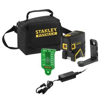 Stanley FatMax 5bodový laser, Li-Ion baterie, zelený paprsek