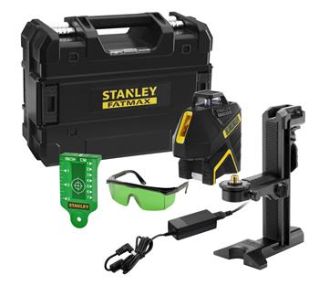 Stanley FatMax linkový laser 360° + 2V, Li-Ion baterie, zelený paprsek