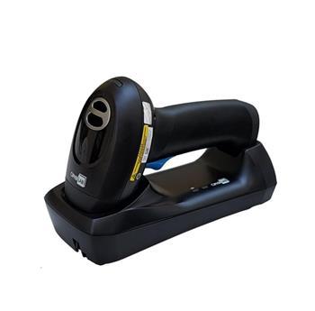 CipherLab 2564 bezdrátová čtečka 2D a QR kódů, dlouhý čtecí dosah, Bluetooth, černá se závěsným poutkem, USB Kit