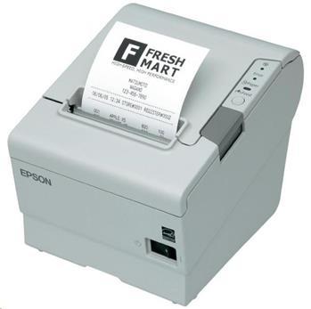 EPSON TM-T88VI pokladní tiskárna, USB + ether., buzzer, bílá, se zdrojem