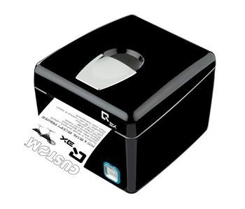 Custom pokladní tiskárna QX3, řezačka, USB/RS232, černá, zdroj