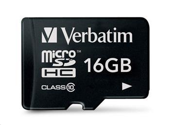 VERBATIM MicroSDHC karta 16GB Class 10 (R:45/W:10 MB/s)