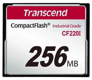 TRANSCEND Industrial Compact Flash Card CF220I 256MB, SLC (UDMA5)