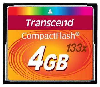 TRANSCEND Compact Flash 4GB (133x)
