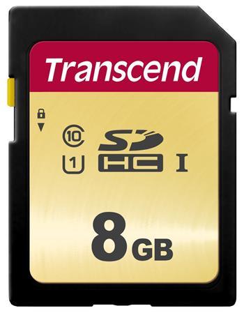 TRANSCEND SDHC karta 8GB 500S, UHS-I U1 (R:95/W:60 MB/s)