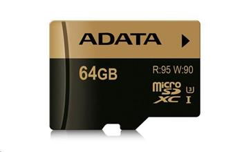 ADATA MicroSDXC karta 64GB XPG UHS-I U3 (R:95/W:90 MB/s)