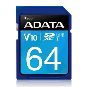 ADATA SDXC karta 64GB Premier UHS-I Class 10