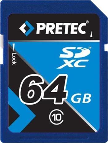 PRETEC Secure Digital SDXC class 10 ( 33MB/s, 21MB/s ) - 64GB