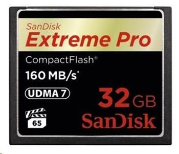 SanDisk Compact Flash 32GB Extreme Pro (160MB/s) VPG 65, UDMA 7