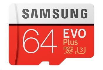 Samsung Micro SDXC karta 64GB EVO Plus (Class 10 UHS-I) + SD adaptér