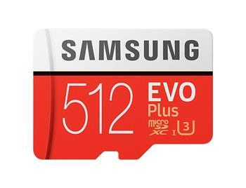 Samsung Micro SDXC karta 512GB EVO Plus (Class 10 UHS-I) + SD adaptér
