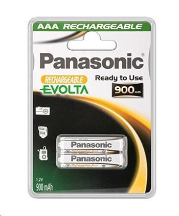 PANASONIC Nabíjecí baterie EVOLTA (Ready to Use - pro Náročné podmínky) HHR-4XXE/2BC 900mAh AAA 1,2V (Blistr 2ks)