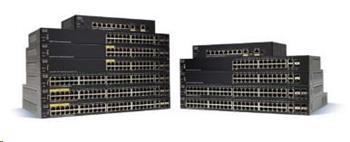 Cisco switch SF350-24P, 24x10/100, 2xSFP, 2xGbE SFP/RJ-45, PoE