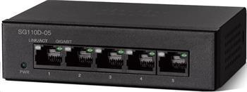 Cisco switch SG110D-05, 5x10/100/1000