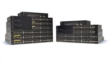Cisco switch SF250-48HP, 48x10/100, 2xGbE SFP/RJ-45, 2xSFP, PoE