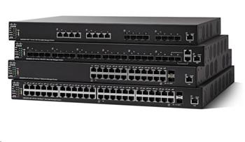 Cisco switch SG550X-24MPP, 24x10/100/1000, 2x10GbE SFP+/RJ-45, 2xSFP+, PoE