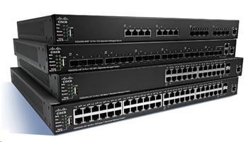 Cisco switch SG350X-8PMD, 8x10/100/1000, 2x10GbE SFP+/RJ-45, PoE