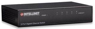Intellinet 5-Port Gigabit Ethernet Switch, kovový