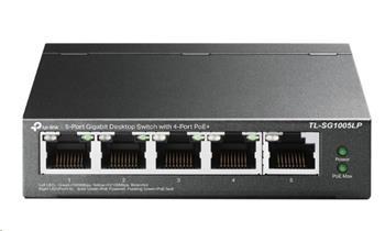 TP-Link TL-SG1005LP [5-Port Gigabit Desktop Switch with 4-Port PoE+]