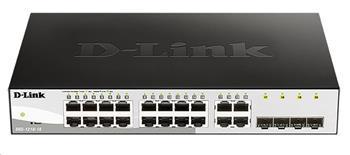D-Link DGS-1210-16 20-port Gigabit Smart Switch, 16x GbE, 4x RJ45/SFP, fanless