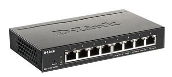 D-Link DGS-1100-08PV2 8-port Gigabit Smart Managed PoE switch, PoE budget 64W, fanless