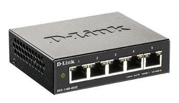 D-Link DGS-1100-05V2 5-port Gigabit Smart Managed switch, fanless