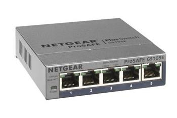Netgear GS105E ProSafe Plus Switch, 5-port gigabit, PC configurable
