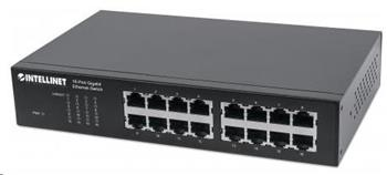 Intellinet 16-port Gigabit Ethernet Switch, 16x GbE, fanless