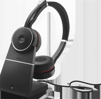 Jabra bezdrátová náhlavní souprava Evolve 75, stereo, vč. nabíjecího stojánku
