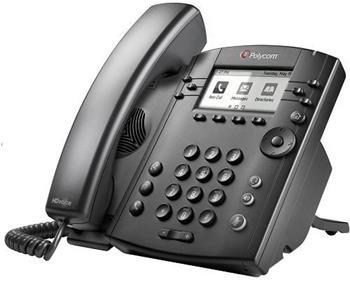 Polycom IP telefon VVX 311, 6 linkový, 2x 1 Gb, HD Voice, PoE, bez napájecího zdroje