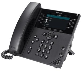 Polycom IP telefon VVX 450, 12 linkový, 2x 1 Gb, HD Voice, PoE, bez napájecího zdroje
