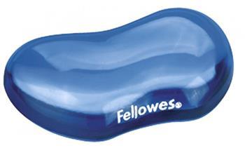 Podložka pod zápěstí Fellowes CRYSTAL gelová modrá