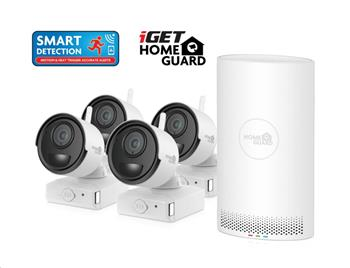 iGET HOMEGUARD HGNVK88004P - Kamerový systém s FullHD bateriovými kamerami, set 4 kamery + NVR rekordér